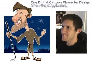 Digital Cartoon Character