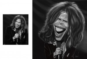 Steven Tyler, digitally painted by Angie Jordan 2015