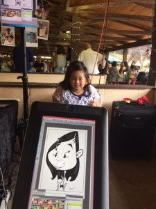 Angie Jordan ipad caricatures