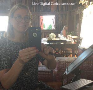 It's my Digital selfie! Angie Jordan Professional Digital Caricature Artist